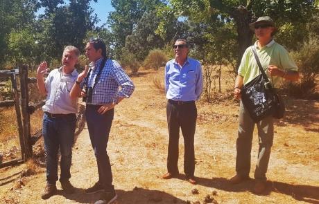 La dehesa muestra su lado ecoturístico al Consejero de Fomento Medio Ambiente de JCyL